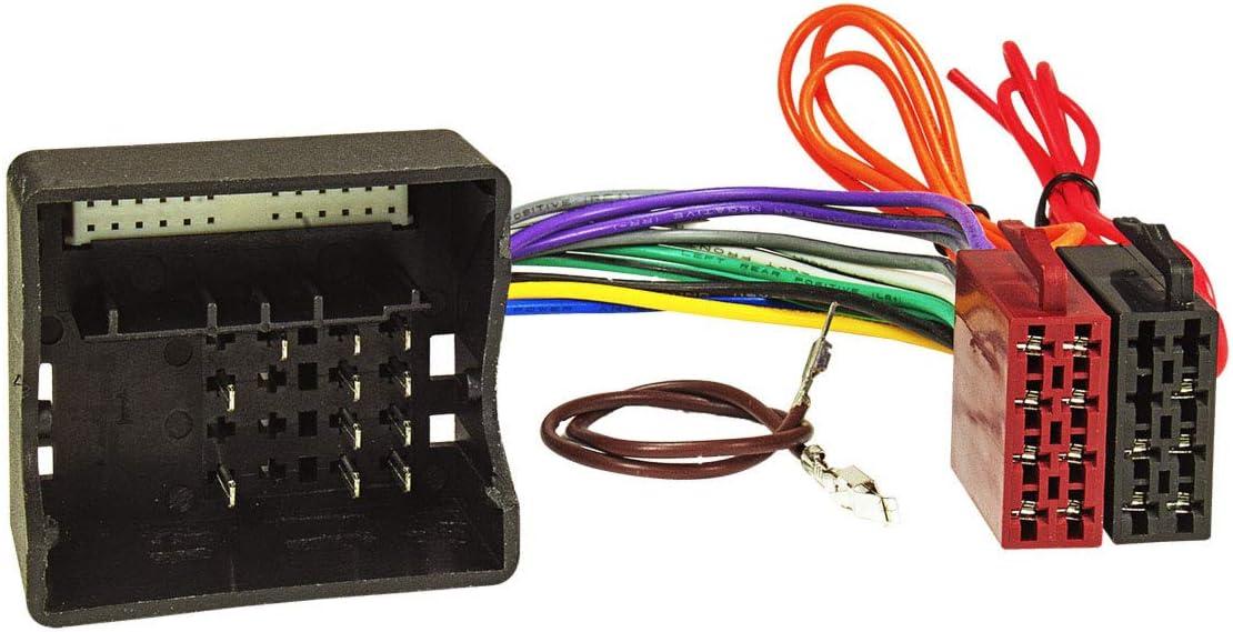 tomzz Audio 2451-001 - Juego de embellecedor de radio doble DIN compatible con Smart Fortwo 451 Forfour 454, adaptador de antena ISO DIN