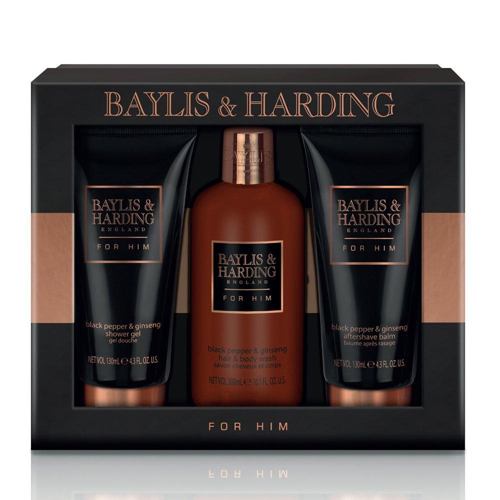 Baylis & Harding Grooming Trio, Black Pepper and Ginseng BM17BP3PC