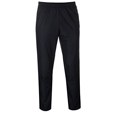 2b40e8156cf4 Mens Tracksuit Bottoms Mesh Lining Silky Casual Gym Jogging Joggers Sweat  Pants Black Colour (Small