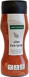 Med Cuisine Silan Date Syrup 360gr - Jarabe De Dátiles 100% Puro Y Natural Sin Azúcar - Jarabe De Café Vegano Suitable Para Paleo y Keto - Sin OGM y Gluten