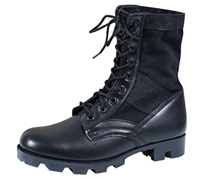 Jungle Boots 8 quot  Military Style Leather Combat Army Boots With Panama  Sole 5a1c5259bfa