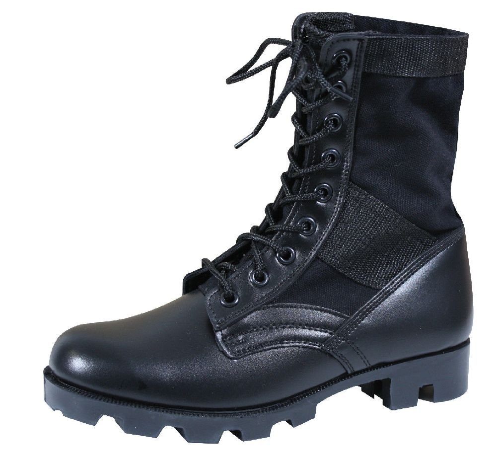 Jungle Boots 8'' Military Style Leather Combat Army Boots With Panama Sole