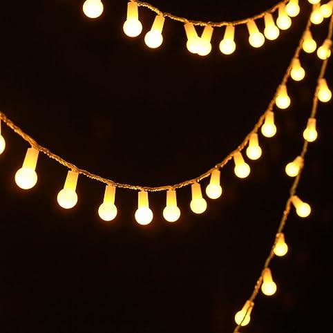 Uping Guirlande Lumineuse Boule Led 4,5M 50 Lampes Décoration