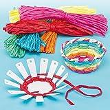 Baker Ross Basket Weaving Kits (Pack Of 4) For Kids Arts and Crafts