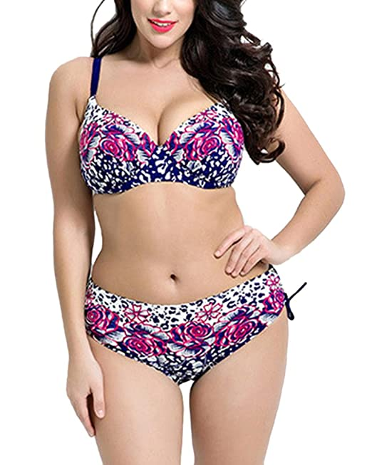 DianShao Mujer Imprimir Bikini Tallas Grandes Push Up Traje ...