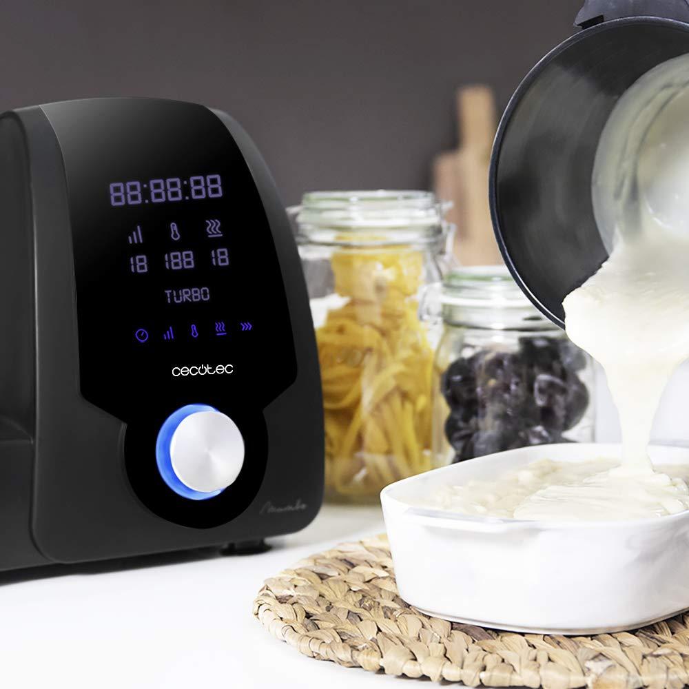 Cecotec Robot de Cocina Multifunción Mambo Black. Capacidad de 3,3l, Temperatura hasta 120ºC con Selección Grado a Grado, 10 Velocidades + Turbo, ...