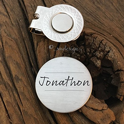 Personalized Name Golf Ball Marker Gift for Boyfriend Valentines Day Gift For Men Golfers Gift Anniversary Birthday Gift Husband Boyfriend by Sierra Metal Design