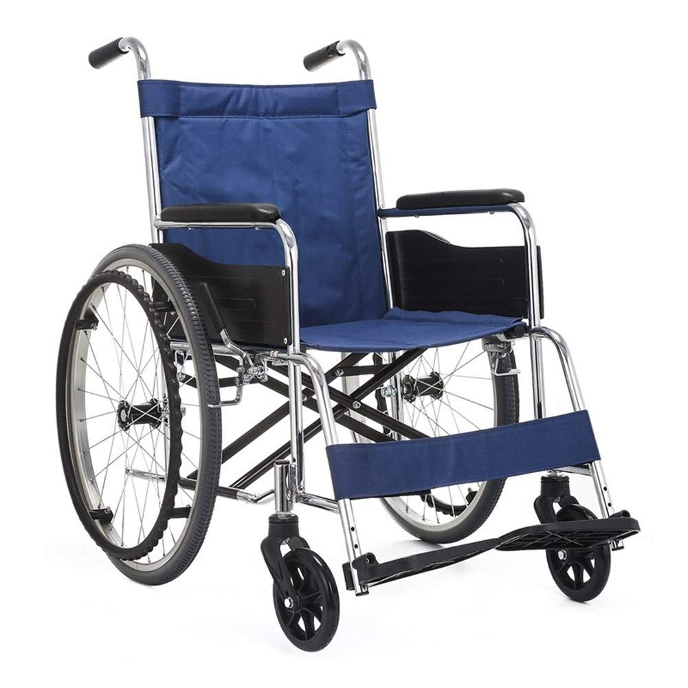 Amazon.com: ZJⓇ Wheelchair Wheelchair Solid Tires Compact ...