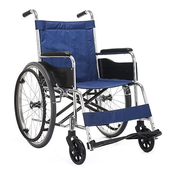 Amazon.com: ZJⓇ Wheelchair Wheelchair Solid Tires Compact ...
