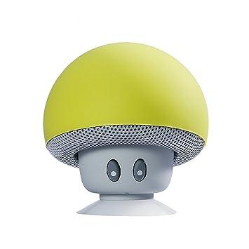 084d1414df52c CAHAYA Lautsprecher Mini Tragbares Bluetooth Lautsprecher Stereo Pilzkopf  mit Saugnapf Hand Freie für Laptop/Smartphones