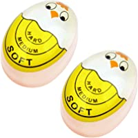 Egg Timer Sensitive Hard & Soft Boiled Color Changing Indicator Tells When Eggs are Ready Yellow 2pcs