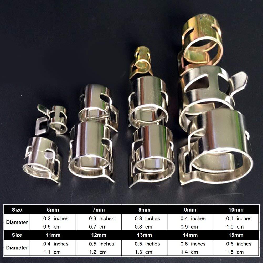 9mm - Como el Pel/ícula 6mmAs la Imagen New 10pcs 6-15mm Muelle Grupo Tipo Gasolina Manguera de Aspirado Silicona Tubo Pinza Acero Galvanizado Pinzas