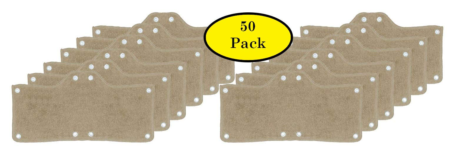 50 Pack Best Hard Hat Sweatband Beige Washable Snap On Sweat Band Liner Safety Accessories
