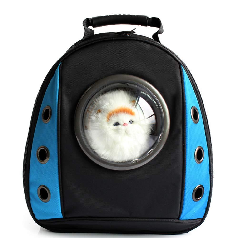 bluee Pet bag cat bag cat backpack dog bag out box portable shoulder cat dog bag