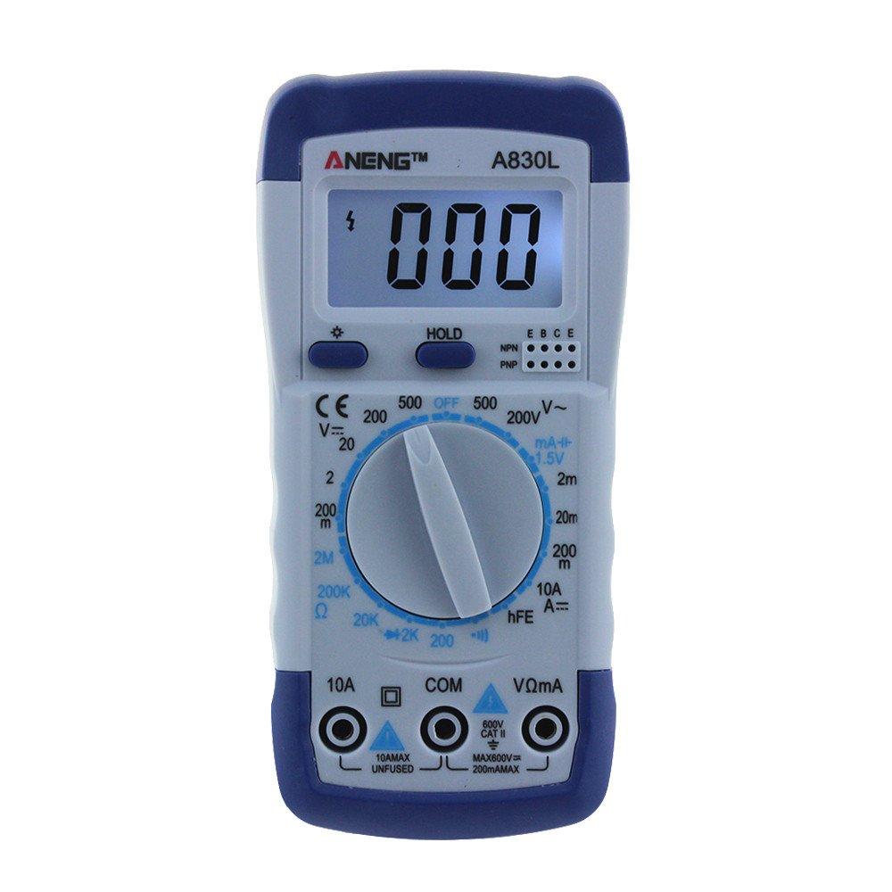 Wokee Fashion ANENE A830L Digital Voltmeter Ammeter Ohmmeter MINI Pocket Hand-held Digital Multimeter Volt AC DC Tester Mete