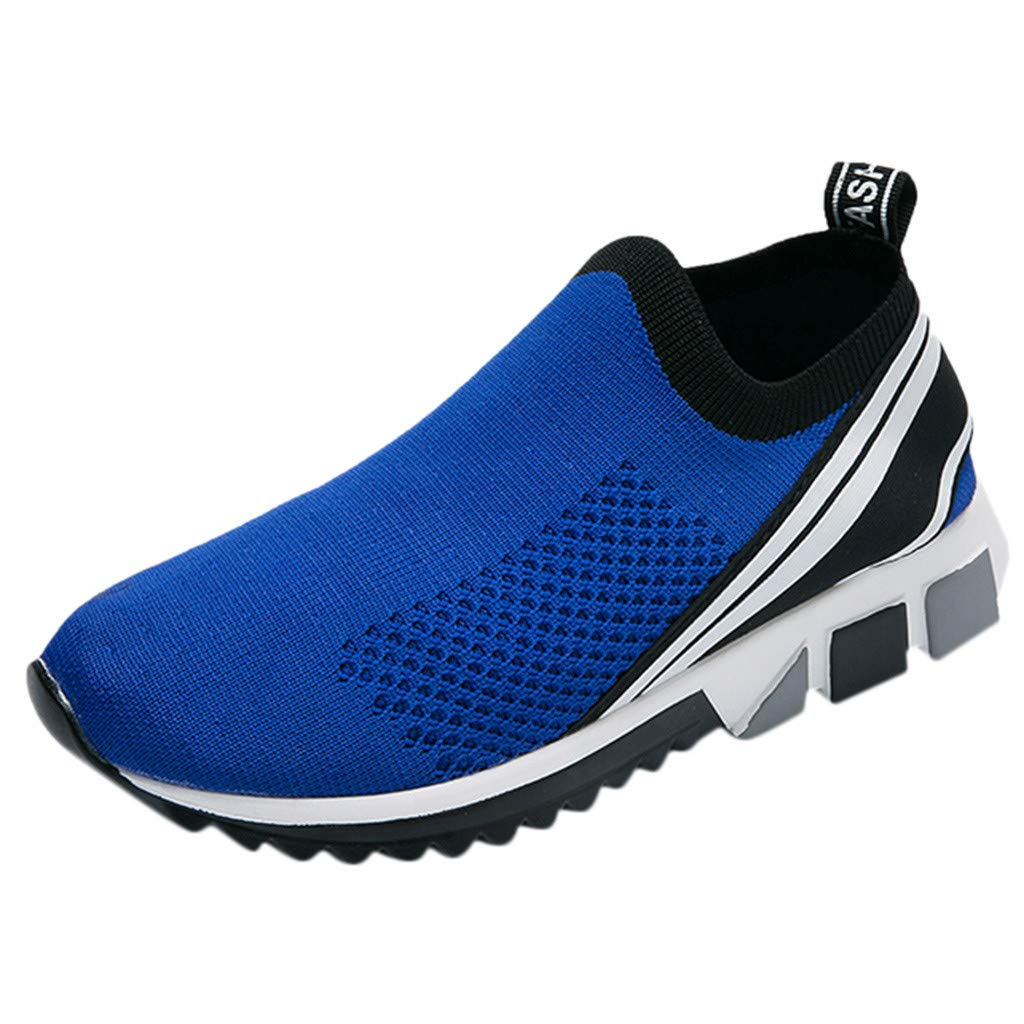 Mens Breathable Mesh Sneakers Athletic Lightweight Knitted Socks Canvas Soft Sole Wild Casual Shoes