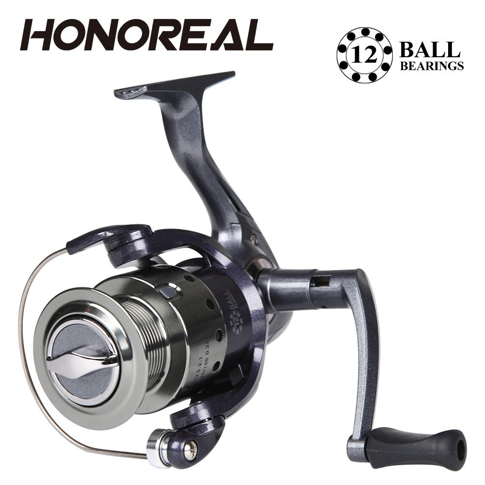 Dressffe HONOREAL Aluminum Body Rotor Ultra Smooth 9+1 BB Spinning Fishing Reel, Anti-twist Line Roller Supper Strong Drive Gear.