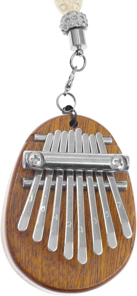 Hordion Kalimba Thumb Piano 8 Keys Mini Portable Wooden Finger Mbira Instrument with Lanyard for Kids and Adults Beginners