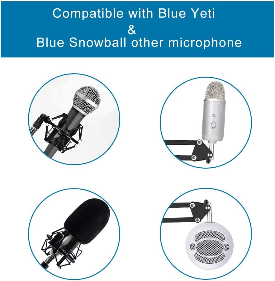 Soporte Micrófono Brazo con Araña,para Snowball Blue Yeti ...