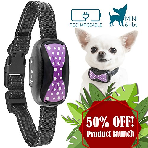 GoodBoy Humane Bark Collar For Small Dogs - Vibrating Anti Barking Device With New 2018 Design And Microchip Upgrade For Better Bark Detection - Rechargeable & Waterproof by GoodBoy