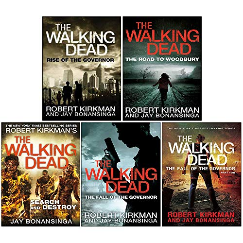 The Walking Dead Series 5 Books Collection Set Rise of the Governor, The Fall of the Governor Part One, The Fall of the Governor (Zombies Walking Dead Governor Series)