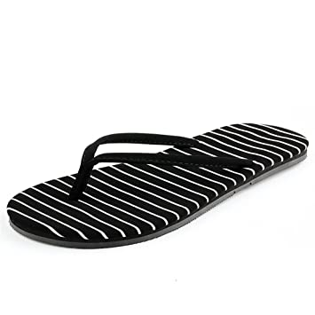 HYLR Simple lady flat chanclas de estilo japonés verano antideslizante leopardo ocasionales sandalias de playa flip flop Havaianas Sandalias y chanclas ...