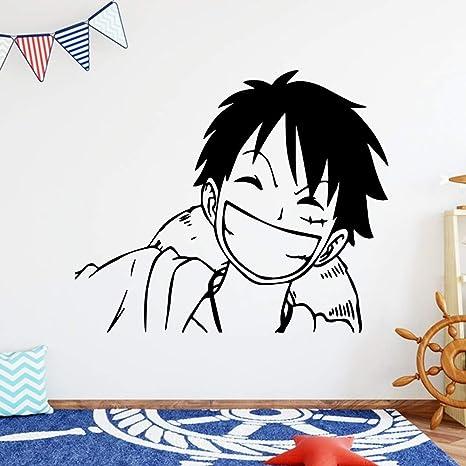 tzxdbh Custom Monkey d Luffy Mural de Pared Extraíble Tatuajes de ...