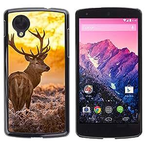 """LG Nexus 5 D820 D821 , JackGot - Impreso colorido protector duro espalda Funda piel de Shell (Resplandeciente ciervos"""")"""