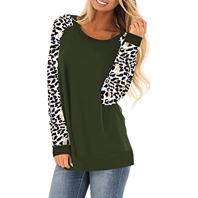 HARHAY Women's Cotton Knitted Long Sleeve Lightweight Tunic Sweatshirt Tops at Women's Clothing store