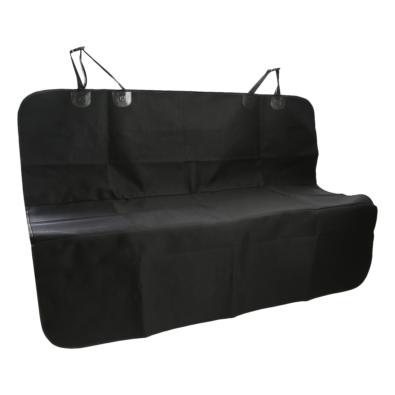 Mobo Pet Seat Cover For Cars, Nonslip Hammock, Machine Washable, WaterProof, Scratch Proof Dogs Cushion (Black, 56x47in)