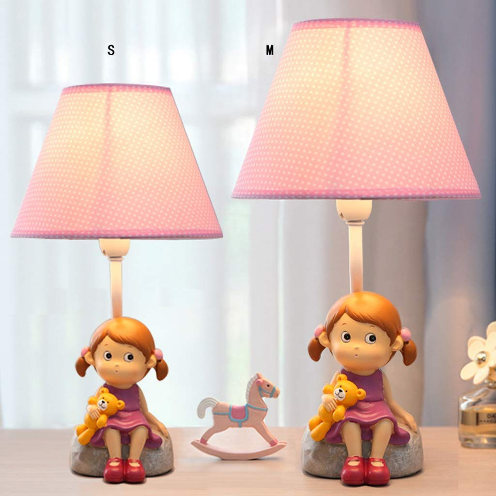 Children's Table Lamp - Warm and Lovely Little Girl Table Lamp, Bedroom Bedside Creative Fashion Cartoon Children's Room Table Lamp Decoration (Size : M) by High-quality table lamp (Image #3)