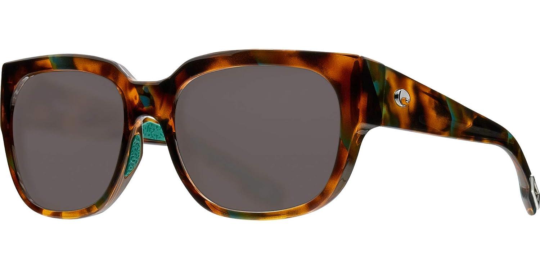 Shiny Palm Tortoise Frame-Grey 580 Poly Polarized Lenses Waterwoman Costa Del Mar