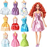 #8: Rainbow Handmade Dresses for Barbie Doll, Pack of 9