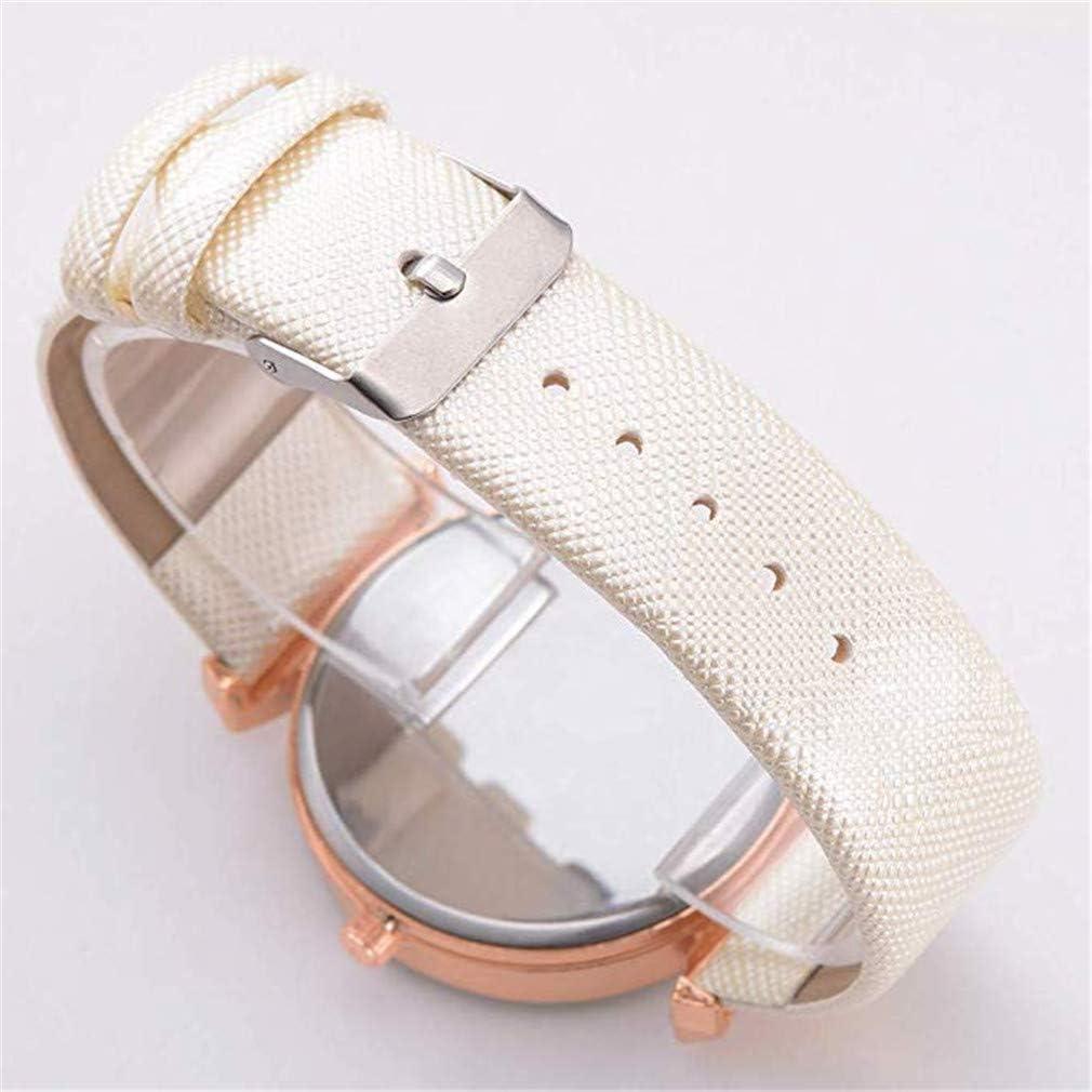 ITVIP Montre à quartz pour femme avec bracelet en cuir et strass 24.1cm blanc Blanc