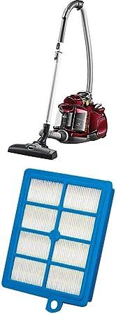 AEG LX7 Power Animal Aspiradora sin bolsa especial mascotas, color rojo chile + AEG AFS1W - Filtro Hepa 13 para aspiradoras trineo de AEG, color azul: Amazon.es: Hogar
