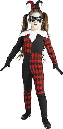 chiber Disfraces Disfraz Arlequín Diabólico para Niña (Talla 10 (8 ...