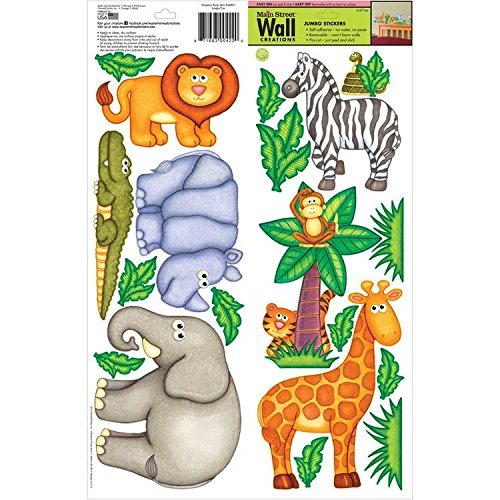 Main Street Wall Creations Jumbo Stickers   Jungle Zoo Free Shipping