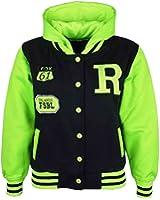 A2Z 4 Kids® Kids Jacket Girls Boys R Fashion Baseball Hooded Jacket Varsity Hoodie New Age 2 3 4 5 6 7 8 9 10 11 12 13 Years