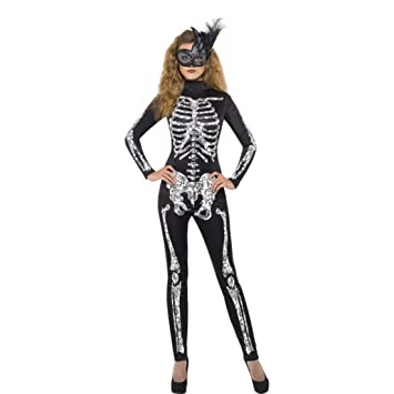SMIFFYS - Costume Halloween Carnevale Travestimento da Scheletro donna -  horror sexy a23c5593d274