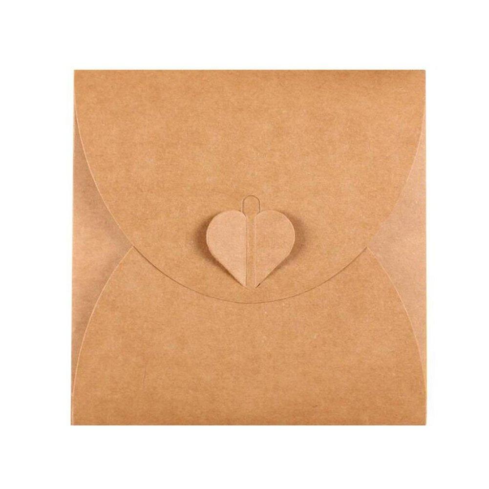 20 Pack Retro Love CD DVD Kraft Paper Sleeves Envelope from Ocharzy