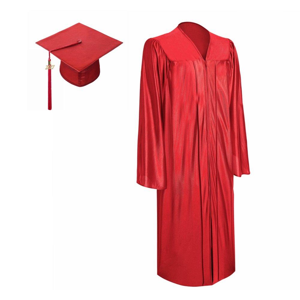 Amazon.com: Lescapsgown Graduation Gown Cap with Tassel 2017 Year ...
