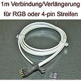 1 Meter Verbindung Verlängerung Kabel für RGB LED Streifen