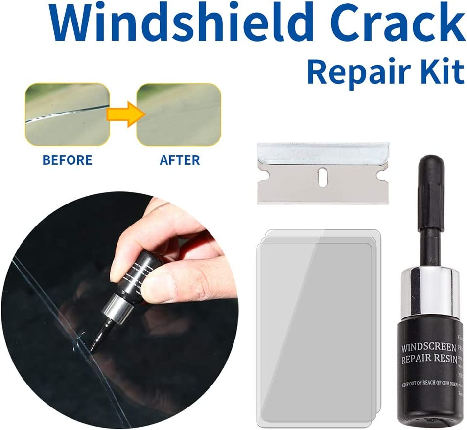 Quick Fix Auto Window Glass Windscreen Scratch Chip Crack Bestice 3 Sets Automotive Glass Nano Repair Fluid Car Window Glass Crack Chip Repair Tool Kit