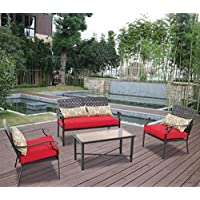 Alexandria Crossing 4-Piece Outdoor Conversation Set