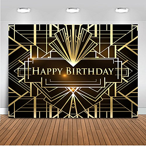 Mocsicka Happy Birthday Backdrop The Great Gatsby Theme
