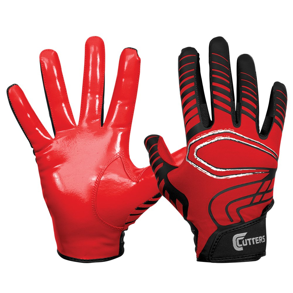 Cutters Gloves REV Receiver Glove (Pair), Red, X-Large