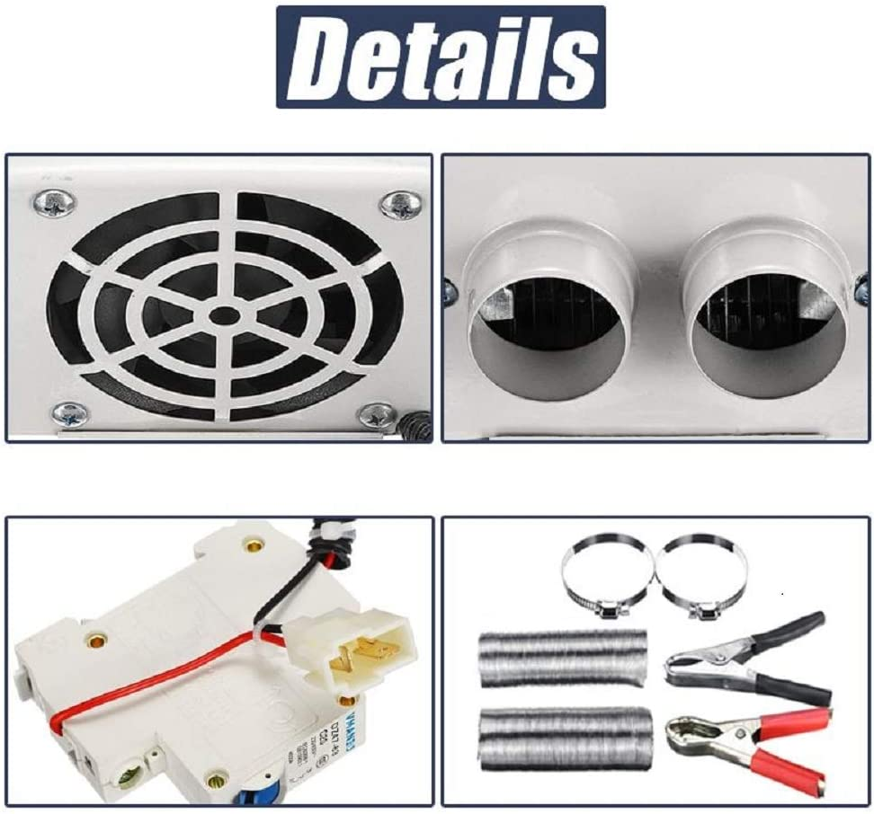 MACHSWON Car Heater Kit 12V 800W High Power 5 Second Fast Heating Defrost for Automobile Windscreen Winter