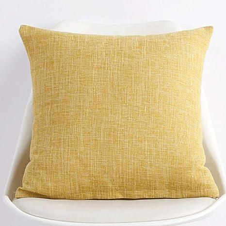 XieTongChua Cojín Almohada de Lino cojín de sofá de Color ...