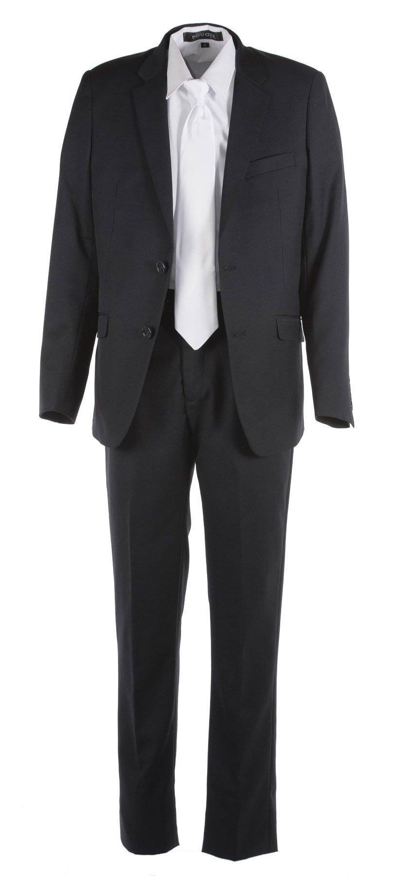 Tuxgear Boys Black Slim Fit Communion Suit With Religious Cross Dress Tie (Boys 16)