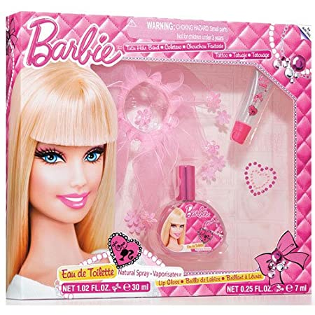 Mattel barbie girl gift set 4 pc includes tutu hair band stickers